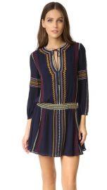 alice   olivia Jolene Embroidered Drop Waist Dress at Shopbop