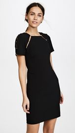 alice   olivia Kristiana Fitted Dress with Imitation Pearls at Shopbop