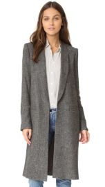 alice   olivia Kylie Long Shawl Collar Jacket at Shopbop