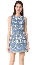 alice   olivia Lindsey Embroidered Pouf Dress at Shopbop