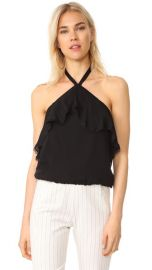 alice   olivia Monet Ruffled Halter Top at Shopbop