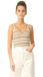 alice   olivia Sandrine Crochet Cropped Tank at Shopbop