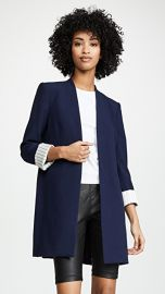 alice   olivia Simpson Roll Cuff Collarless Blazer at Shopbop