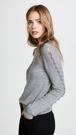 alice   olivia Sparrow Grommet Sleeve Pullover at Shopbop