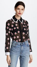 alice   olivia Willa Embroidered Top at Shopbop