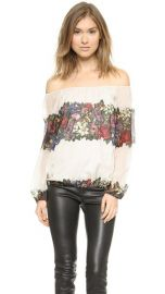 alice and olivia Alta Peasant Top at Shopbop