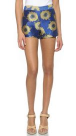 alice and olivia Back Zip Shorts at Shopbop