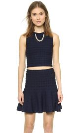 alice and olivia Bess Textured Dots Crop Tank at Shopbop