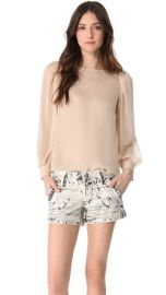 alice and olivia Blouson Sleeve Blouse at Shopbop