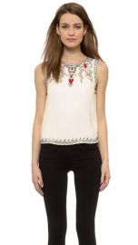 alice and olivia Cecille Embelished Boxy Top at Shopbop