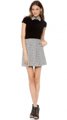 alice and olivia Charlotte Cap Sleeve Belted Dress at Shopbop