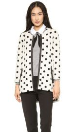 alice and olivia Collarless Polka Dot Coat at Shopbop