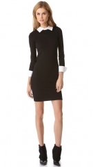 alice and olivia Courtnee Combo Cuff Dress at Shopbop