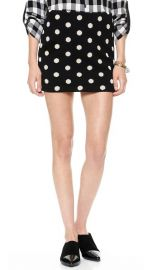 alice and olivia Elana Polka Dot Miniskirt at Shopbop