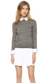 alice and olivia Fitted Collar Sweater at Shopbop