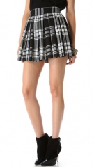 alice and olivia Fizer Box Pleat Skirt at Shopbop