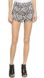 alice and olivia Highwaisted Lace Shorts at Shopbop