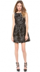 alice and olivia Lillyanne Puff Mini Dress at Shopbop