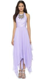 alice and olivia Mai Leather Handkerchief Maxi Dress at Shopbop