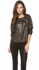 alice and olivia Mayer Boxy Raglan Top at Shopbop