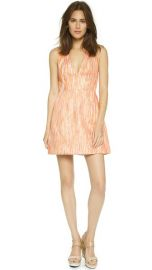 alice and olivia Pacey V Neck Lantern Dress at Shopbop