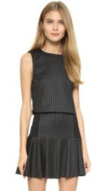 alice and olivia Pinstripe Boxy Crop Top at Shopbop