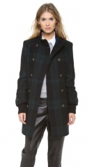 alice and olivia Rhonda High Neck Coat at Shopbop