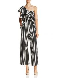 alice and olivia Sabeen One-Shoulder Striped Jumpsuit at Bloomingdales
