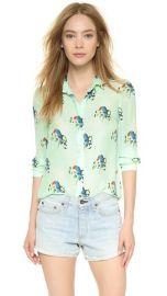 alice and olivia Willa Mini Collar Button Down at Shopbop