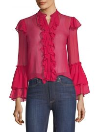 alice olivia Odele Trumpet Sleeve Blouse at Saks Fifth Avenue