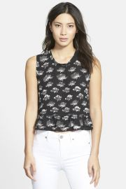 and039Tanyaand039 Sleeveless Peplum Babydoll Top at Nordstrom Rack