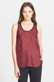 and039Teddyand039 Print Silk Racerback Tank at Nordstrom Rack