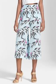 and039Trentonand039 Leaf Print Crop Wide Leg Trousers at Nordstrom Rack