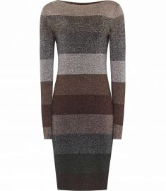 ashlyn STRIPED LUREX DRESS  at Reiss