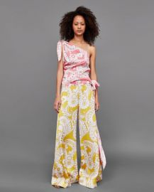 asymmetric printed top at Zara