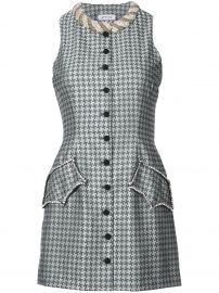 attico embellished and buttoned printed mini dress at Farfetch