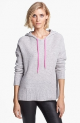 autumn cashmere Honeycomb Stitch Cashmere Hoodie in grey at Nordstrom