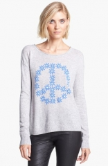 autumn cashmere Peace Symbol Cashmere Sweater at Nordstrom