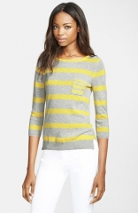 autumn cashmere Stripe Cashmere Sweater at Nordstrom