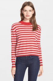 autumn cashmere Stripe Mock Neck Cashmere Sweater at Nordstrom