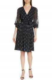 ba amp sh Memory Floral Silk Chiffon Dress at Nordstrom