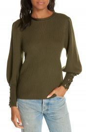 ba amp sh Zelie Lace-Up Cuff Wool Sweater at Nordstrom