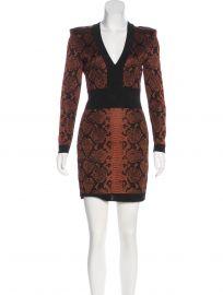 balmain patterned dress at The Real Real