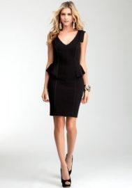 bebe Jenny Peplum Dress Coordinated Sportswear Blk-l at Amazon
