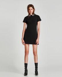 bejewelled appliqu   dress at Zara