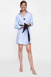belted shirt dress at Zara