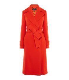 belted wrap coat at Karen Millen