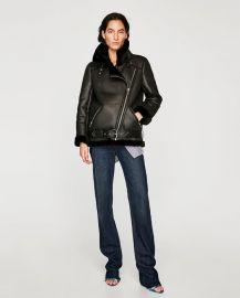 biker jacket at Zara