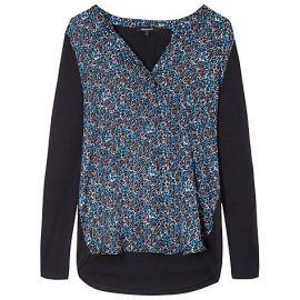 black and blue printed blouse at Gerard Darel