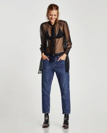blouse with bow at Zara